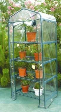 Greenhouse with 4 shelves Triangle